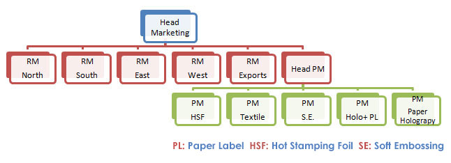 Organizational Chart (Sales & Marketing)
