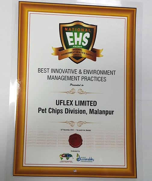 National EHS Award for Best Innovative and Environment Management Practices