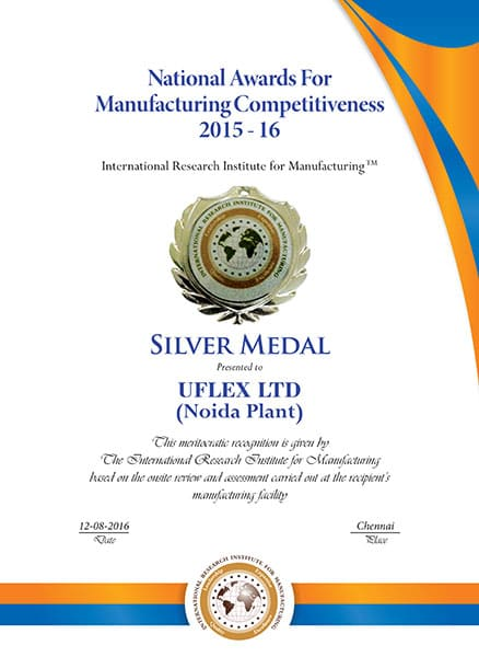 National Awards For Manufacturing Competitiveness 2015 - 16