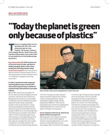 The Passion for Packaging – Cover Story in the June 2018 Edition of What Packaging? by Print Week India