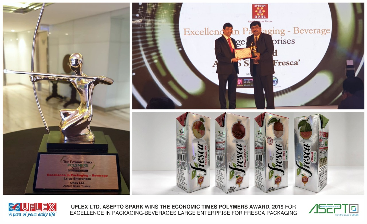 Asepto Spark by Uflex Wins ET Polymer 2019 Award for Excellence in Packa