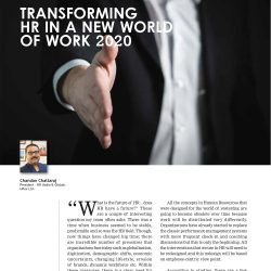 Chandan Chattaraj writes an exclusive OPED for People and Management about the Transforming HR in a New World of Work 2020!